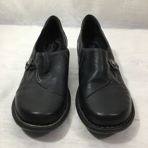 Clark's Womens Artisan Black Leather Clogs Size 7M